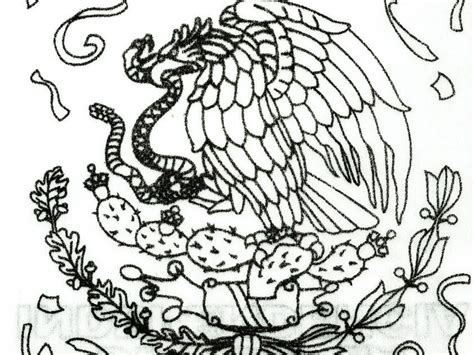 Coat Of Arms Of Mexico, Coloring Page