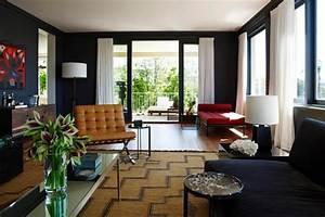 Rideau Salon Gris : des rideaux blancs sur peinture anthracite ~ Teatrodelosmanantiales.com Idées de Décoration