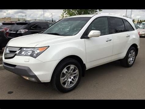 pre owned white  acura mdx awd tech pkg review fort
