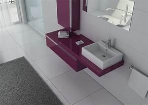 Meuble Simple Vasque : meuble de salle de bain aubergine 1 vasque meuble de salle de bain aubergine dis9550au ~ Teatrodelosmanantiales.com Idées de Décoration