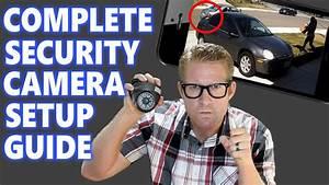 Home Security Camera System Surveillance Setup  How To