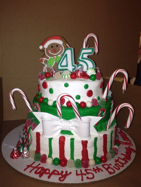 christmas themed birthday cake christmas y birthday