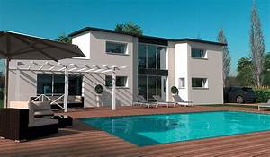 maison contemporaine a etage 194 m2 5 chambres With modele de maison en l 5 image maison tunisienne