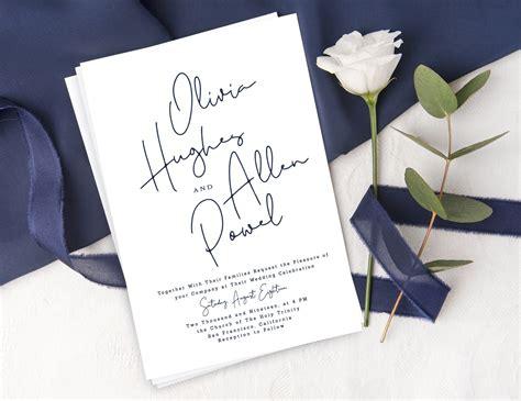 Minimalist bohemian wedding invitation suite Modern