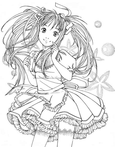coloring pages  girls hard  collections