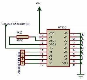 Ht12d Rf Decoder Ic Pinout  Details  Equivalent  U0026 Datasheet