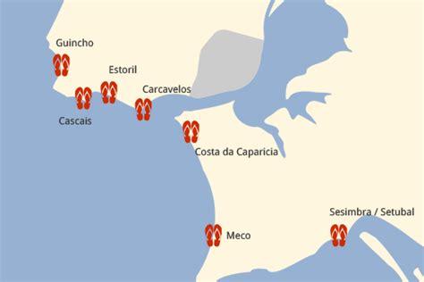 Lissabon Strand Karte