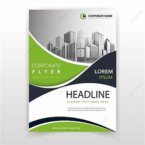 Green Wave Cover Annual Report Template Template For Free