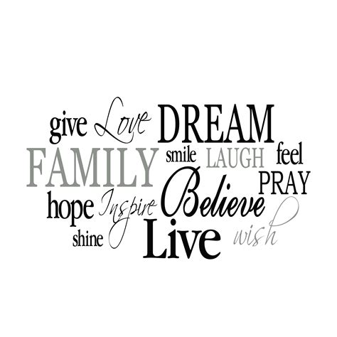 family word collage vinyl wall decal 2 living room entry way vinyl wall decal wordle