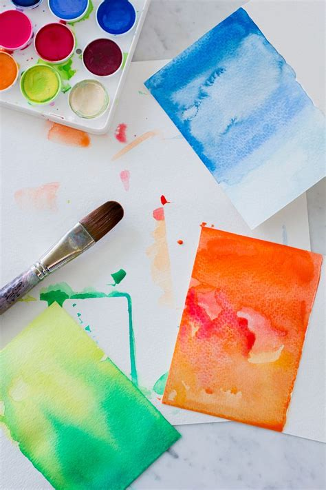 these diy watercolor greeting cards are cheap and easy would make for a