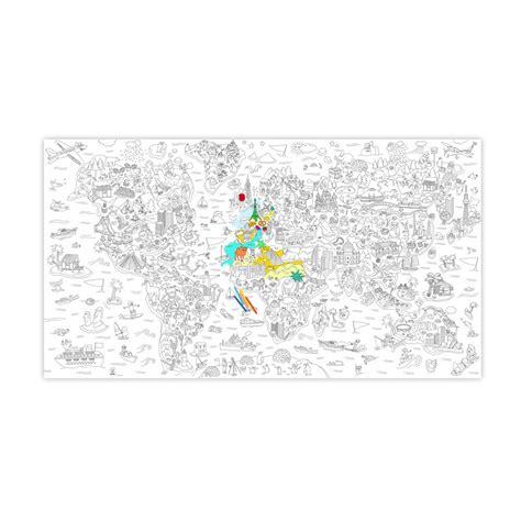 Carte Du Monde à Colorier Omy by Coloriage G 233 Ant Atlas Omy Jouet Et Loisir Adolescent Enfant
