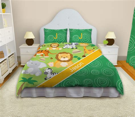 sheets for king bed safari green and yellow bedding jungle theme