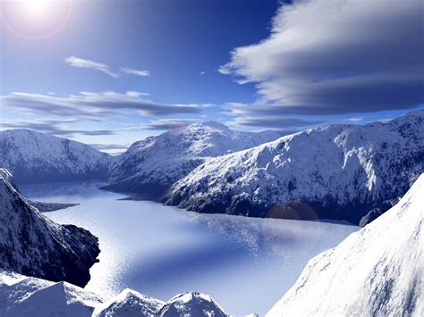 Ice Snowy Mountains Free Wallpapers Hd High Definition