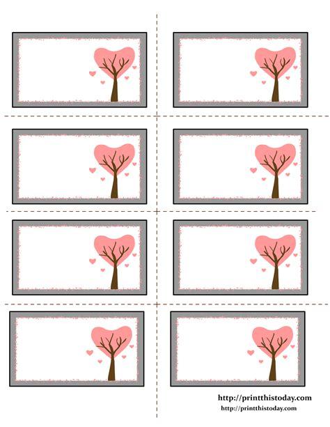 Free Printable Valentine Label Templates