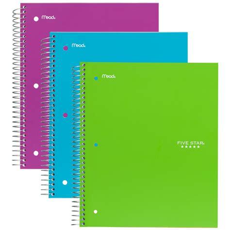 Akhwat Spiral Notebook five spiral notebooks 1 subject wide
