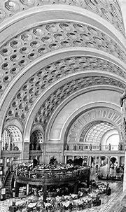 Union Station Interior, Washington DC (B&W) - Black ...