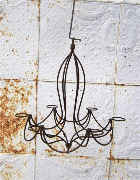 wrought iron wanda outdoor candle chandelier