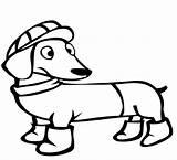 Dachshund Coloring Winter Dog Colorare Jamniki Daschund Evcil Hayvanlar Boyama Kolorowanki Bestcoloringpagesforkids Disegni Coloringpageforkids Sayfalari Cat Pets Clipart Template Categoria sketch template
