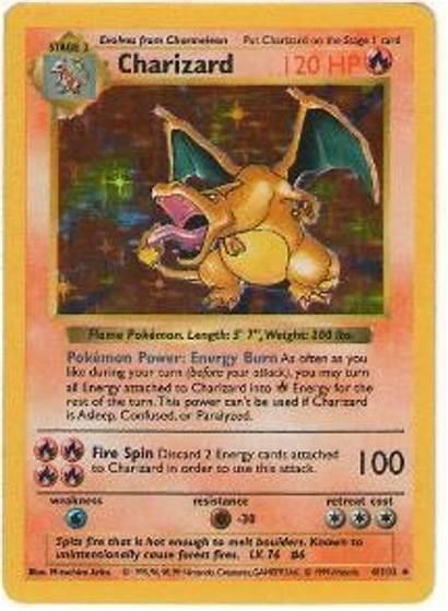 Pokemon Charizard Base Shadowless Play Cards Single