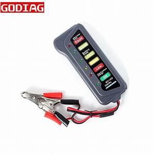 Tirol 12 Volt Led Battery And Alternator Tester With 6 Led
