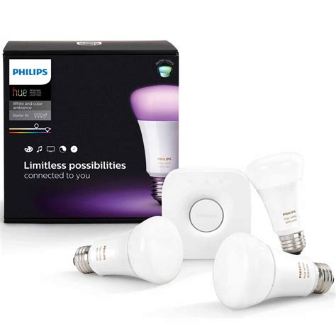 philips hue white and color ambiance starter a19 kit 3rd