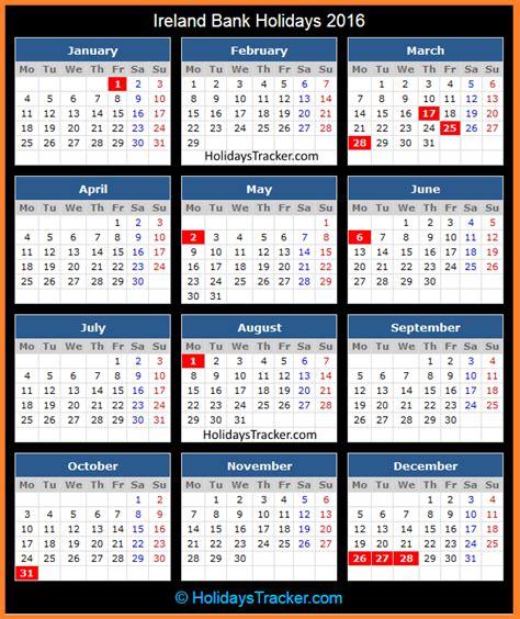 ireland bank holidays holidays tracker