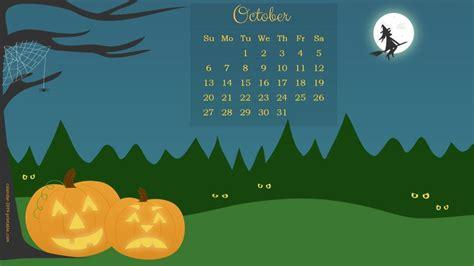 october  calendar halloween wallpaper calendar