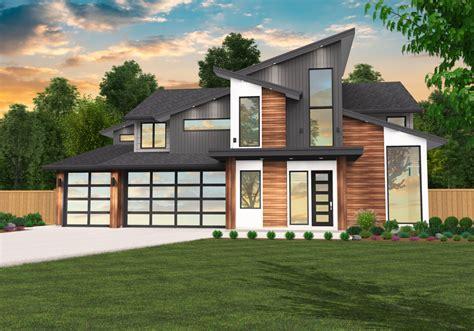 Modern 7 Two Story Modern House Plan by Mark Stewart