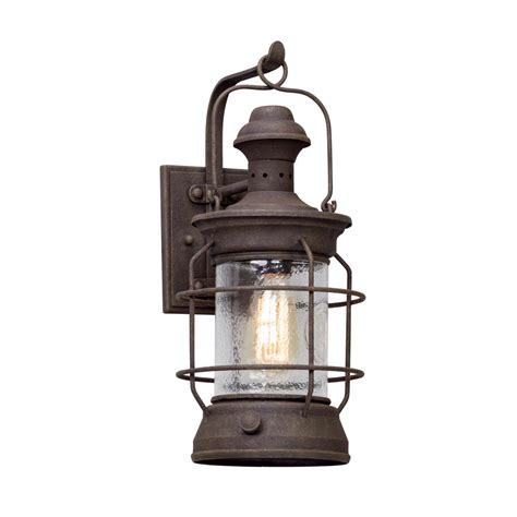 troy lighting atkins centennial rust outdoor wall mount