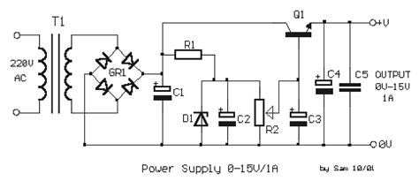 Simple Power Supply With Adjustable Output