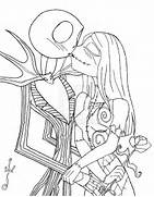 Jack and sally coloring pages  Jack And Sally Coloring Pages