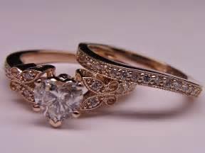 Vintage Rose Gold Engagement Rings Art Deco