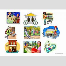 Places Around Town Flashcards Worksheet  Free Esl Printable Worksheets Made By Teachers
