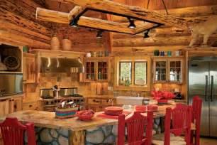 Log Cabin Kitchen Backsplash Ideas by Altitude Adjustment A Handcrafted Log Home In Colorado