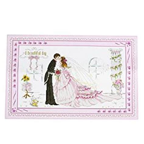 amazoncom handwork stamped cross stitch bride groom