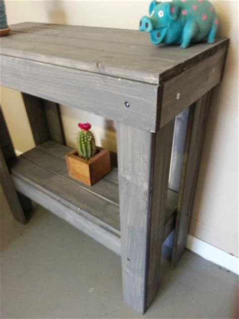 diy pallet entryway table pallet furniture plans
