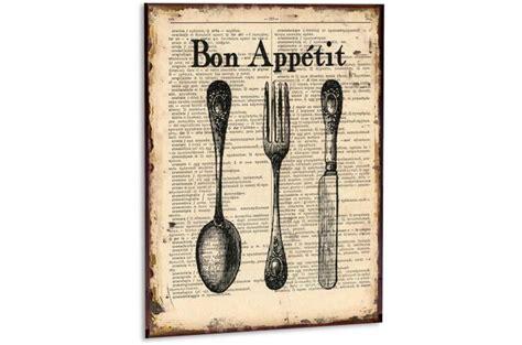 cadre cuisine design cadre cuisine en métal bon appetit tableau gourmandise