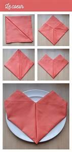 Pliage De Serviette En Tissu : origami serviette de table ~ Nature-et-papiers.com Idées de Décoration