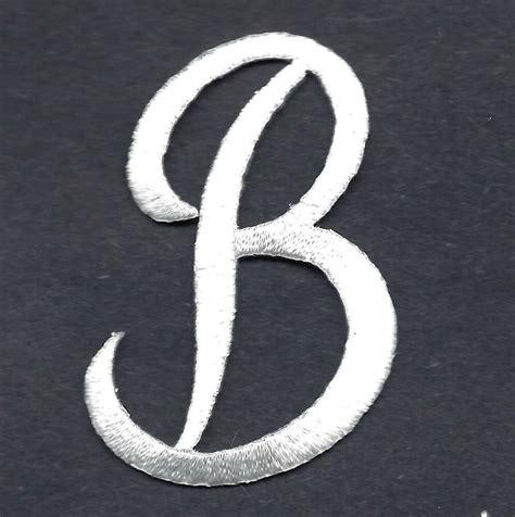 script letters white script letter  iron