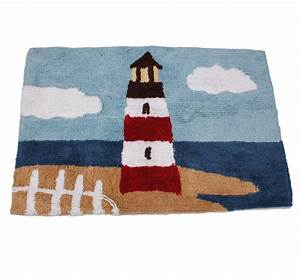 Essential home point bay lighthouse bath rug home bed for Lighthouse bathroom rugs