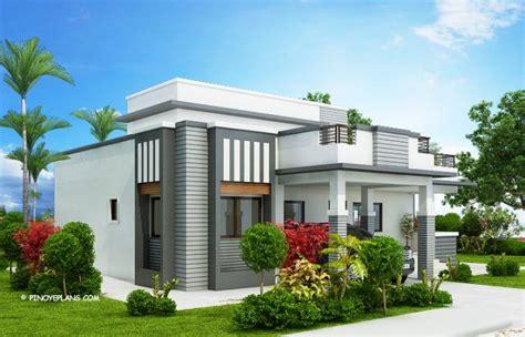 bedroom modern house design  roof deck   total floor area   square meters