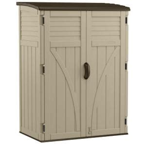 suncast vertical shed assembly suncast 2 ft 8 in x 4 ft 5 in x 6 ft large vertical