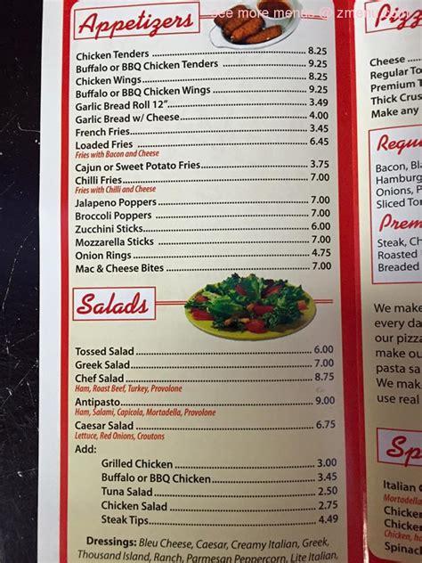 menu   gs pizza restaurant sagamore beach