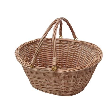 cheap kitchen furniture buy oval wicker shopping basket with swing handles the