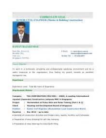 Raja Kumar Resume Senior Civil Engineer
