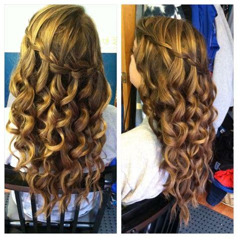 waterfall braid curing wand curls hair