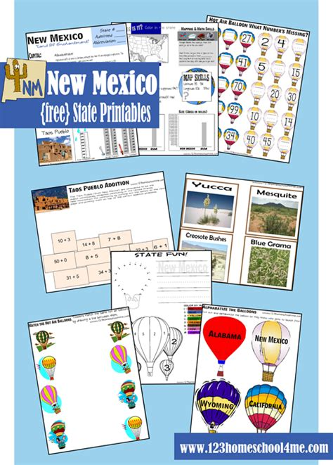 free new mexico worksheet pack new mexico loving