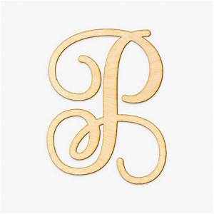 shop wood letters monogram wood letter With monogram letter p