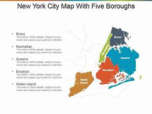 New York City Map With Five Boroughs Presentation Design