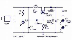 Usb Lamp Circuit Diagram